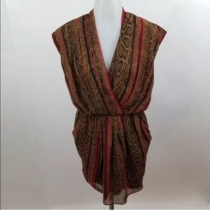 Gianni Bini dress M animal print snakeskin dress